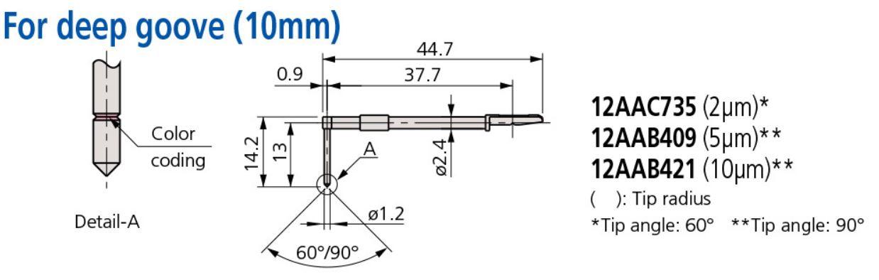 Bản vẽ kỹ thuật kim đo - Styli 12AAC735