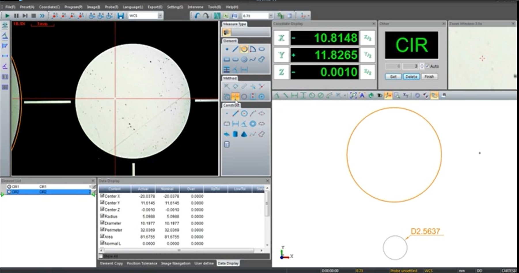Phần mềm máy đo 2D Rational VMS 3020