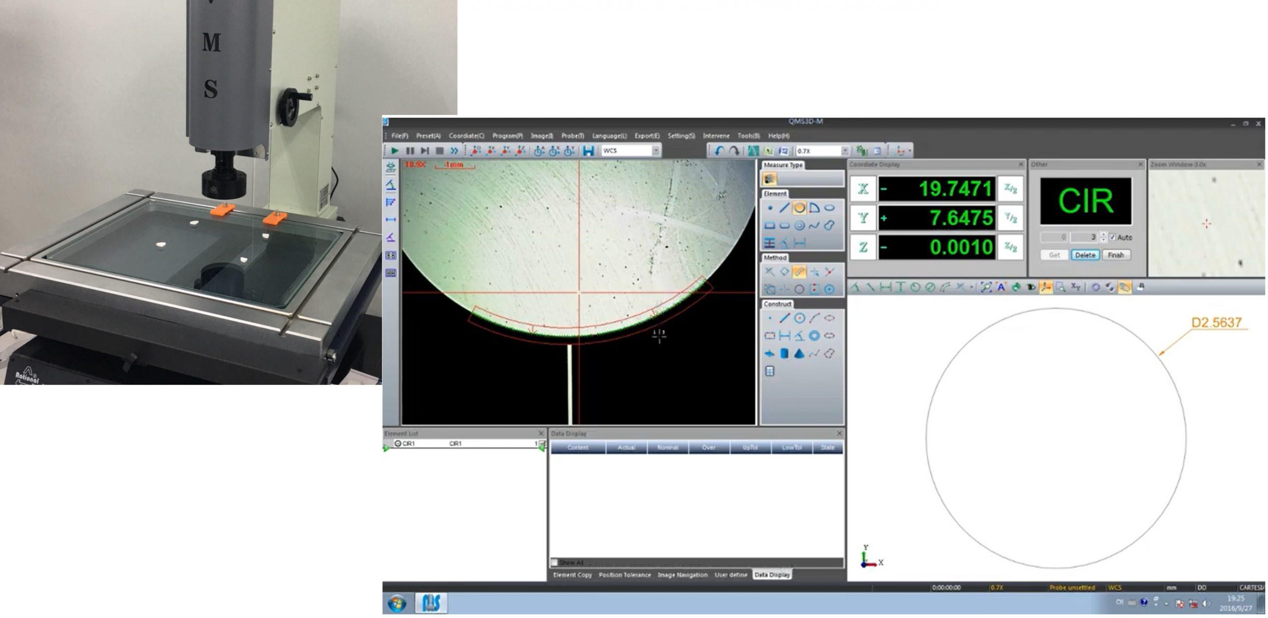 Hệ thống camera máy đo 2D