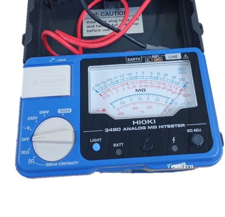 Đồng hồ đo điện trở cách điện 3490 Hioki